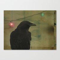 Dark Crow Celebration Canvas Print
