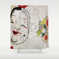J_mask Shower Curtain
