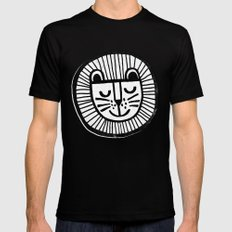 HAPPY LION SMALL Mens Fitted Tee Black