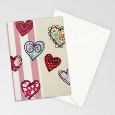 Embroidered Heart Illustration Stationery Cards
