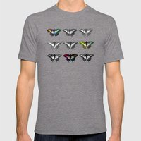 Butterflies 2 Mens Fitted Tee Tri-Grey SMALL
