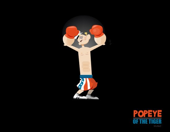 coupling up (accouplés) Popeye of the tiger Canvas Print