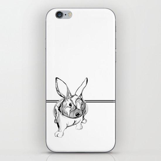 white rabbit iPhone & iPod Skin