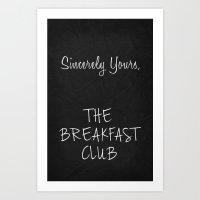 Breakfast Club Poster 01 Art Print
