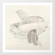 Simca Aronde  Art Print