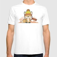 Pretty Cunning Mens Fitted Tee White SMALL