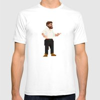 Bearded Chief Mens Fitted Tee White SMALL