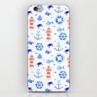 Marin pattern iPhone & iPod Skin