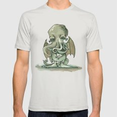 Cthulhu Mythos Silver SMALL Mens Fitted Tee