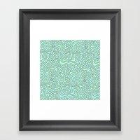 Wacky Pattern Framed Art Print