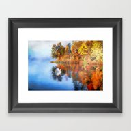 Calm Waters Of Autumn Framed Art Print