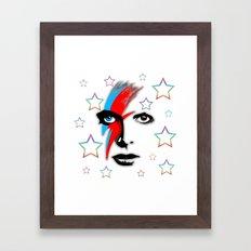 Bowie's Eyes Framed Art Print