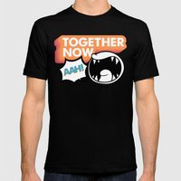 Together Now... AAH! Mens Fitted Tee Black SMALL