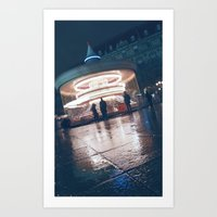 Paris Ferris Art Print