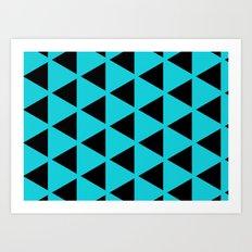 Sleyer Black on Blue Pattern Art Print