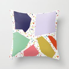 TERRAZZO COLLAGE Throw Pillow