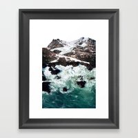 Sea And Mountains Framed Art Print