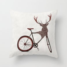 Stag Bike Throw Pillow