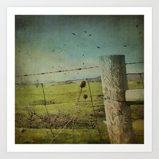 Wild West Fence  Art Print