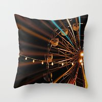 Throw Pillow featuring Ferris Wheel by Renee Trudell