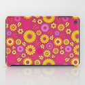 Country flowers in pink iPad Case
