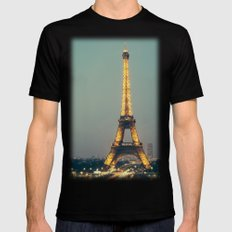 The 90s In Paris Mens Fitted Tee Black SMALL