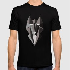 Winter Wolf Mens Fitted Tee Black SMALL
