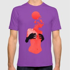 Black Gloves Mens Fitted Tee Ultraviolet SMALL