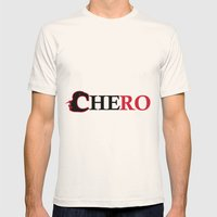 Che ro Mens Fitted Tee Natural SMALL