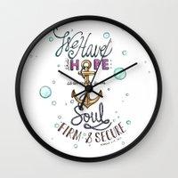 Hebrews 6:19 Wall Clock