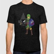 The Legend Of Zelda: Hyl… Mens Fitted Tee Tri-Black SMALL