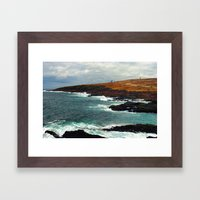 Lighthouse in Newfoundland Framed Art Print