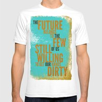 The Future Belongs to You Mens Fitted Tee White SMALL