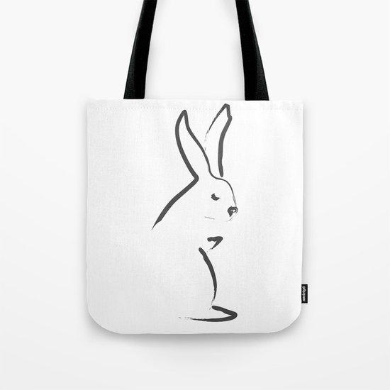 Zen Snow Bunny Tote Bag