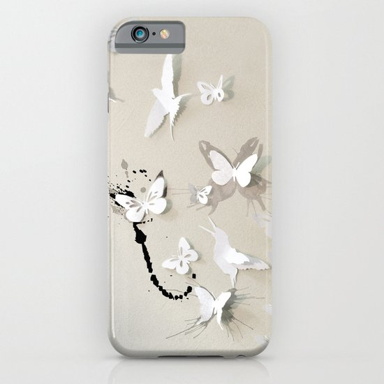 Butterfly Birds iPhone & iPod Case