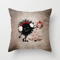 Evil Bug Gives Christmas… Throw Pillow