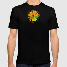 Orange Orchard Mens Fitted Tee Black SMALL