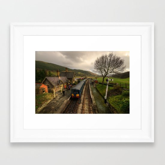 The Railway Station at Carrog  Framed Art Print