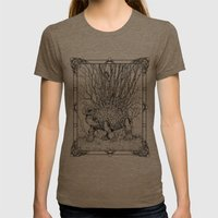The Wandering Home Womens Fitted Tee Tri-Coffee SMALL