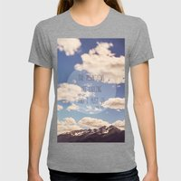 The Mountains Are Callin… Womens Fitted Tee Tri-Grey SMALL