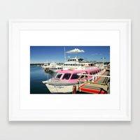 Colourful Boat Framed Art Print