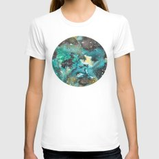 Galaxy 06 Womens Fitted Tee White SMALL