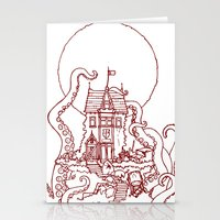 The Midnight Chateau Red Line Stationery Cards