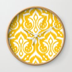 Ikat Damask Wall Clock
