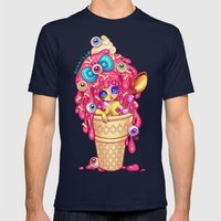 Ice-Cream Zombie Girl Mens Fitted Tee Navy SMALL