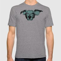 THE BUDDIE, BLUE Mens Fitted Tee Athletic Grey SMALL