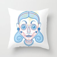 A Rare Girl Throw Pillow