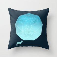 Deer god Throw Pillow