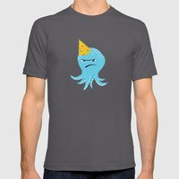 Squid of Partypooping Mens Fitted Tee Asphalt SMALL
