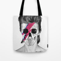 Skull Bowie Tote Bag